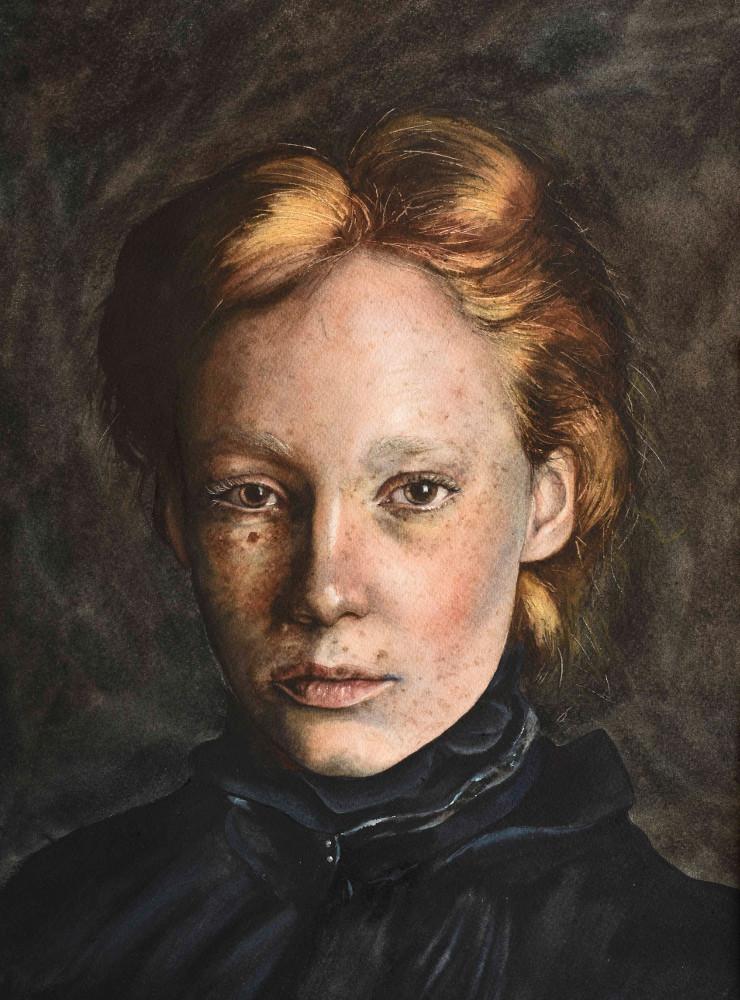 Жената с огените коси