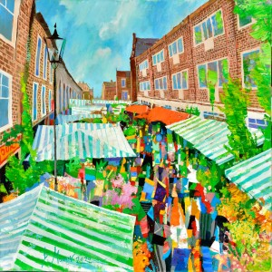The flower market. Columbia Rhodes, London