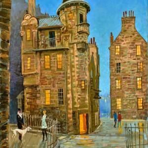 In the evening in Edinburgh