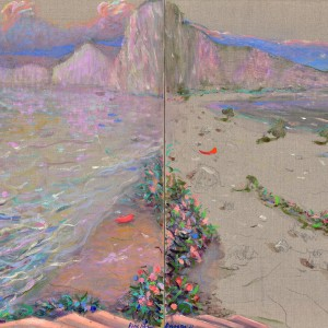 Color shores, diptych