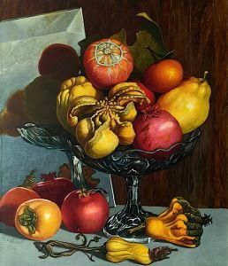 Плодове в стъклена купа