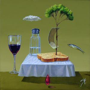 Хляб, сол и вино
