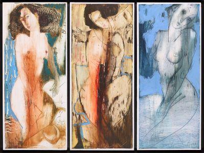 Трите грации, триптих