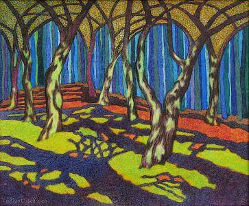 Вратите на двореца гората